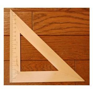 木製三角定規 16cm (二等辺三角形) ruinok-2