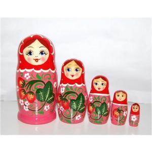 いちごマトリョーシカ 5人姉妹 レッド×ピンク ruinok-2