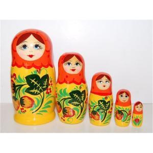 いちごマトリョーシカ 5人姉妹 オレンジ×イエロー ruinok-2