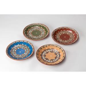 ブルガリア工芸食器 トロヤン陶器 トロヤンのしずく 小皿 プレート 小サイズ 直径18cm|ruinok-2