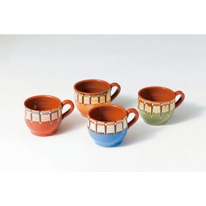ブルガリア工芸食器 トロヤン陶器 トロヤンのしずく カフェオレカップ|ruinok-2