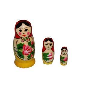 ロシア伝統柄!「ミニロシヤーノチカ 7cm 3個組」(赤ずきん)|ruinok-2