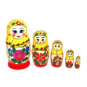 ロシア伝統柄!「ロシヤーノチカ 5個組(プラトーク巻き)」11cm 5個組|ruinok-2