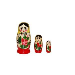 ロシア伝統柄!「ミニロシヤーノチカ 7cm 3個組」(黄色ずきん)|ruinok-2