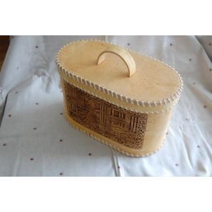 1点もの!!白樺の皮ベレスタのパンケース 大きいサイズ 働き者の年頃娘 井戸端編|ruinok-2