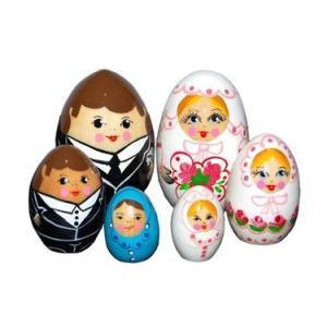 結婚マトリョーシカ「幸せエッグ 6人家族」|ruinok-2