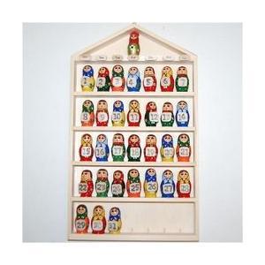 マトリョーシカ木製 組替え壁掛けカレンダー 無料ラッピング|ruinok-2