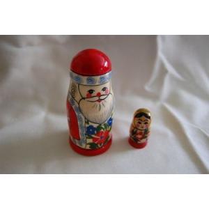 サンタさんと女の子 マトリョーシカ 2個組 10cm ruinok-2