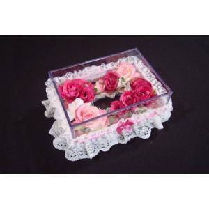 お花のティッシュケース(小)フューシャピンク|rukashow