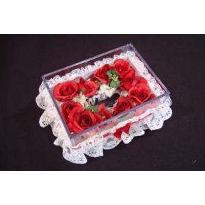お花のティッシュケース(小)レッド|rukashow
