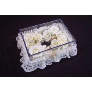 お花のティッシュケース(小)ホワイト|rukashow