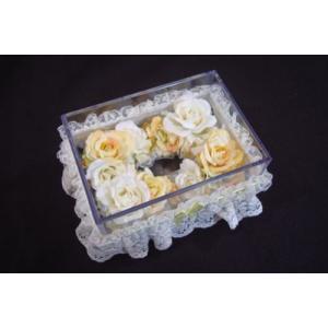 お花のティッシュケース(小)イエロー|rukashow