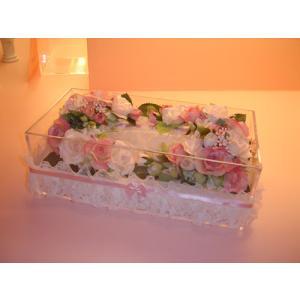 お花のティッシュケース(大)ピンク|rukashow