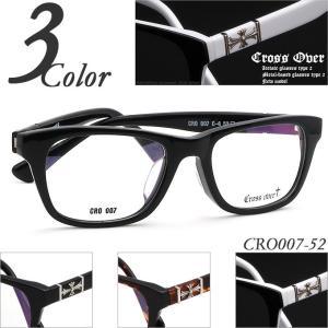 送料無料 Cross Over CRO007-52 クロスデザイン セルフレーム(プラスチック) メガネ度付きフレーム 眼鏡通販セット 近視・遠視・乱視・老視に対応|rule