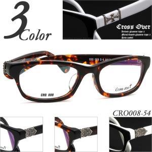 送料無料 Cross Over CRO008-54 ユリの紋章デザイン セルフレーム(プラスチック) メガネ度付きフレーム 眼鏡通販セット 近視・遠視・乱視・老視に対応|rule
