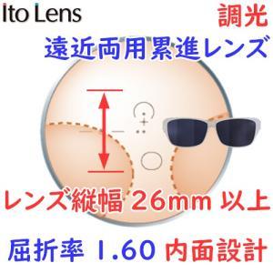(メガネセット用/2枚1組)(調光遠近両用 薄型累進レンズ)(送料無料)(屈折率1.60 内面設計)ITOLENS FFIQ160ART(エフエフIQ160アート) rule