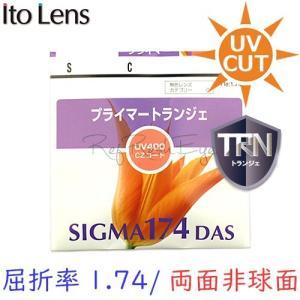 (メガネセット用/2枚1組)(送料無料)(日本製)(屈折率1.74 最超薄型 両面非球面) ITOLENS シグマ174DAS 傷防止強化(トランジェ)|rule