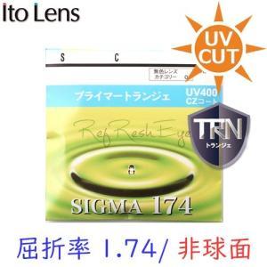 (メガネセット用/2枚1組)(送料無料)(日本製)(屈折率1.74 最超薄型 非球面) ITOLENS シグマ174AS 傷防止強化(トランジェ)|rule