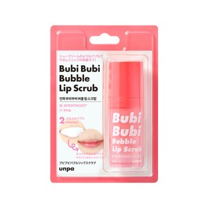 【unpa公式】 BubiBubi Bubble Lip Scrub 10ml バブルリップスクラブ 唇 スクラブ マイルドピーリング 3分角質ケア 韓国累計100万突破|rum21