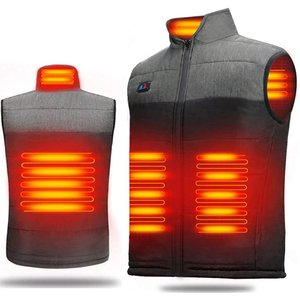 【シーズンバーゲン】 電熱ベスト 加熱ベスト ヒートジャケット 加熱服 USB充電 ダブルスイッチ ...