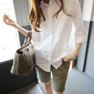 白シャツ シャツ レディース シャツブラウス レディース 長袖 ワイシャツ Yシャツ カッターシャツ...