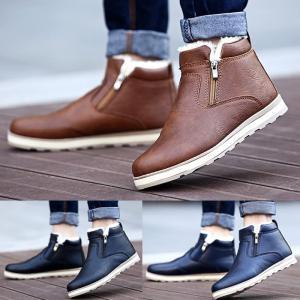 商品名:ブーツ メンズシューズ 裏起毛 紳士靴 ハイカット カジュアル 暖かい 歩きやすい 履きやす...