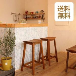 カウンターチェア おしゃれ 木製 天然木 スツール 北欧 バーチェア キッチン カントリー