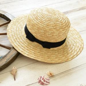 カンカン帽 ストローハット 帽子 春夏 レディース リボン|rumsee