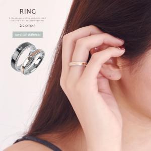 リング 指輪 メンズ ブラック レディース ペアリング ピンクゴールド メッセージ入り  ステンレス素材 ≪ゆうメール便配送20・代引不可≫|rumsee
