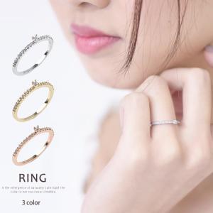 リング 指輪 シンプル ピンキーリング レディース|rumsee