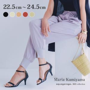 アンクルストラップ サンダル 7.5cmヒール エナメル S字フック ブラック レッド レディース シューズ 靴|rumsee