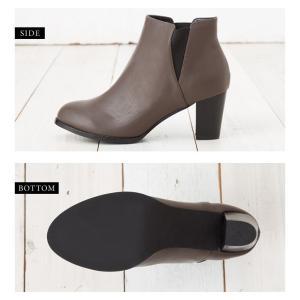 ショートブーツ レディース サイドゴア 靴 ブラック ブラウン グレージュ 22.5cm 23.0cm 23.5cm 24.0cm|rumsee|07