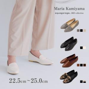 ローファー レディース パンプス フラットシューズ 靴 ポインテッド エナメル スエード 大きいサイズ 秋冬|aquagarage(アクアガレージ)