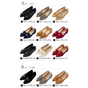 フラットシューズ タッセル 靴 レディース お...の詳細画像2
