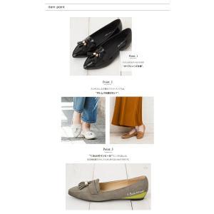 フラットシューズ タッセル 靴 レディース お...の詳細画像4