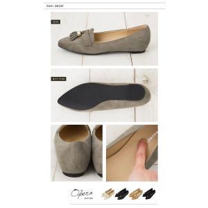 フラットシューズ タッセル 靴 レディース お...の詳細画像5