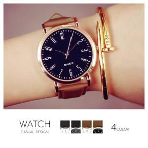 カジュアルデザインウォッチ 腕時計 レディース メンズ ブラック ホワイト ブラウン|rumsee