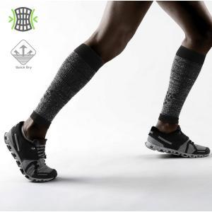 送料無料 ロングソックス 靴下 ハイソックス コンプレッション 着圧 ふくらはぎ カーフタイツ レッグカバー スポーツウェア メンズ ランニング