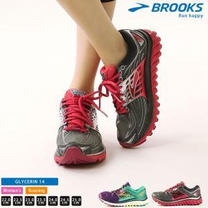 ランニングシューズ ブルックス BROOKS レディース グリセリン 14 1202171B 1808 シューズ スニーカ−|runningclub-gh