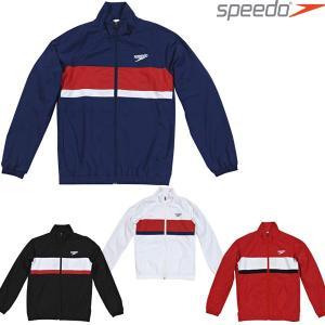 ウインドジャケット スピード SPEEDO  メンズ カラーブロック ウインドジャケット SD12F11 ウインドブレーカー スポーツウェア|runningclub-gh