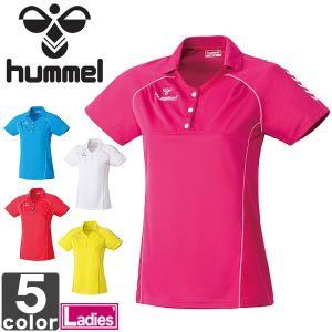半袖ポロシャツ ヒュンメル hummel レディース ゲームシャツ HLG1001  練習着|runningclub-gh