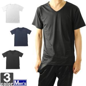 半袖Tシャツ メンズ ルクール糸 軽量 ストレッチ Vネック 18001 1807 トップス カットソー|runningclub-gh