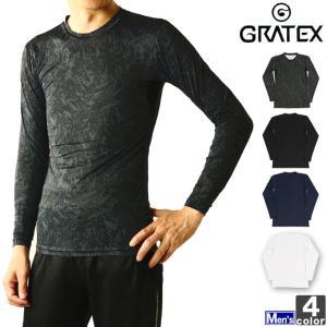 インナー グラテックス GRATEX メンズ 3321 冷感 コンプレッション 長袖 クルーネック 1905 アンダーウェア|runningclub-gh