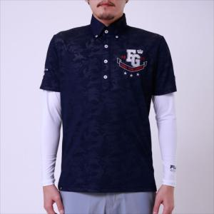 長袖ポロシャツ FILA GOLF (フィラゴルフ) メンズ 長袖シャツ ネイビー 748501 1905 紳士 ゴルフウェア|runningclub-gh