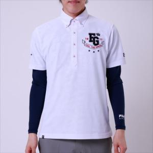 長袖ポロシャツ FILA GOLF (フィラゴルフ) メンズ 長袖シャツ ホワイト 748501 1905 紳士 ゴルフウェア|runningclub-gh