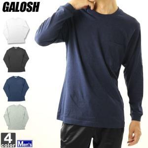 長袖Tシャツ ガロッシュ GALOSH メンズ ポケット付き 長袖 Tシャツ 8084 1807  トップス カットソー シャツ インナー|runningclub-gh