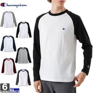 長袖Tシャツ チャンピオン Champion  メンズ ラグラン C3-J425 1811 トップス 長袖 ラグランT runningclub-gh