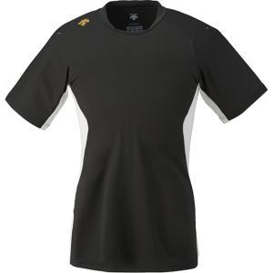 DESCENTE (デサント) ネイキッドシャツ(ベースボールTシャツ) DB117 BLK 1611|runningclub-gh