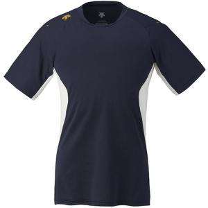 DESCENTE (デサント) ネイキッドシャツ(ベースボールTシャツ) DB117 SNVY 1611|runningclub-gh