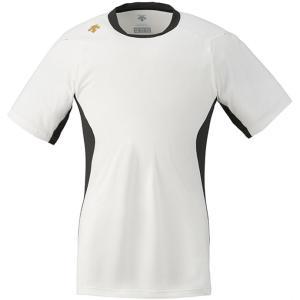 DESCENTE (デサント) ネイキッドシャツ(ベースボールTシャツ) DB117 SWBK 1611|runningclub-gh
